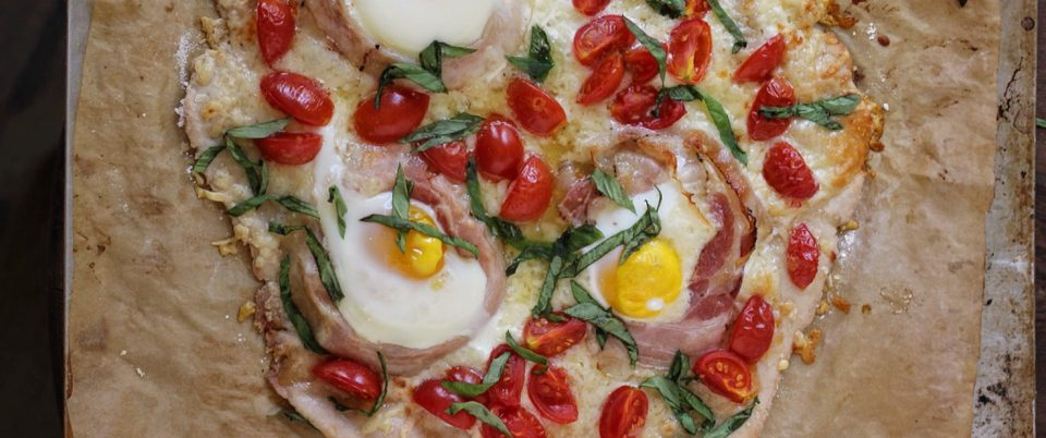 Breakfast Pizza with Pancetta - Real Plans