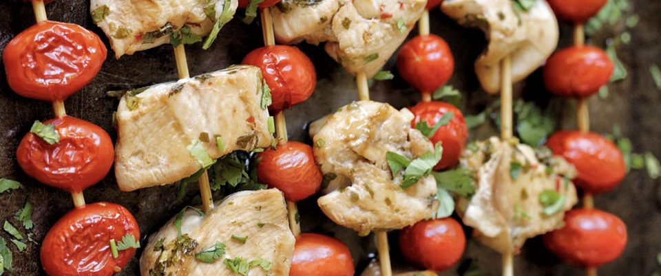 How To Make Honey Lime Chicken and Tomato Skewers - Real Plans