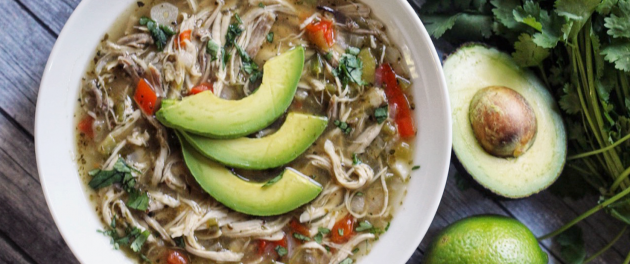 Paleo White Chicken Chili - Real Plans