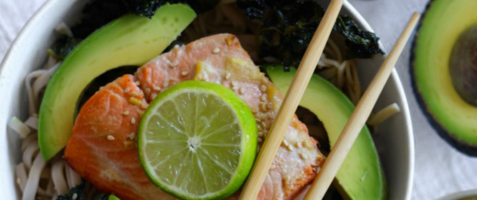 Miso Lime Salmon Bowls - Real Plans