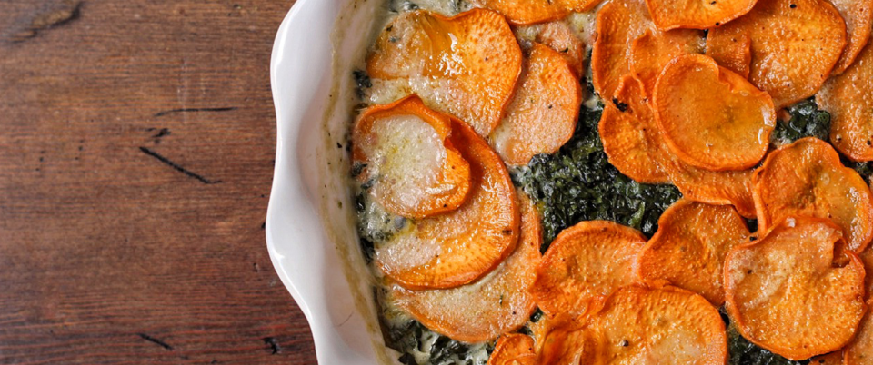 AIP Sweet Potato and Kale Gratin - Real Plans