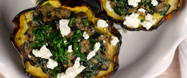 Stuffed Acorn Squash - Real Plans