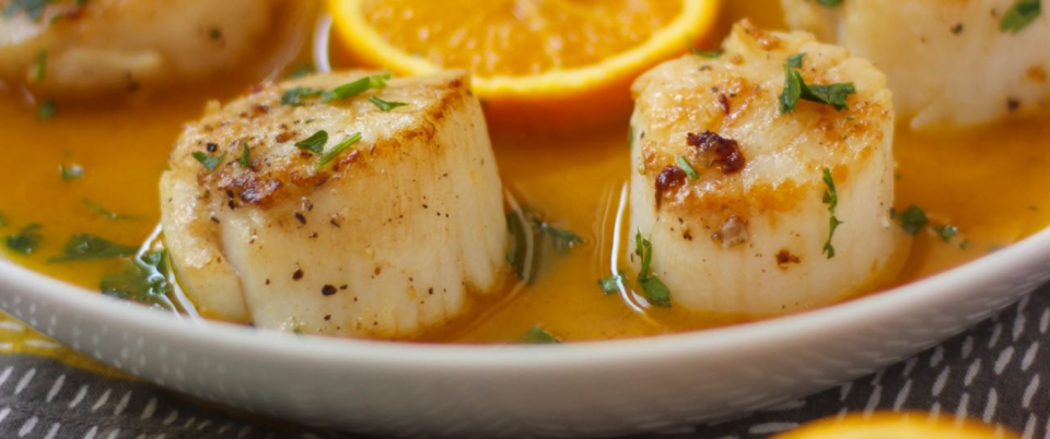 Pan Seared Scallops with Citrus Glaze - Real Plans
