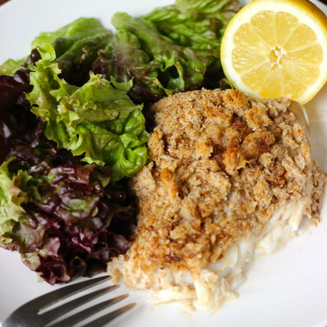Mustard Crusted Halibut