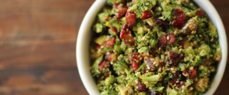Chopped Broccoli Salad with Cranberries