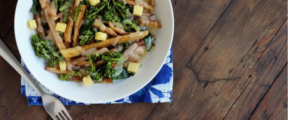 Poutine with Broccolini - Real Plans