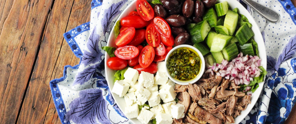How to Make Greek Salad with Roasted Lamb - Real Plans