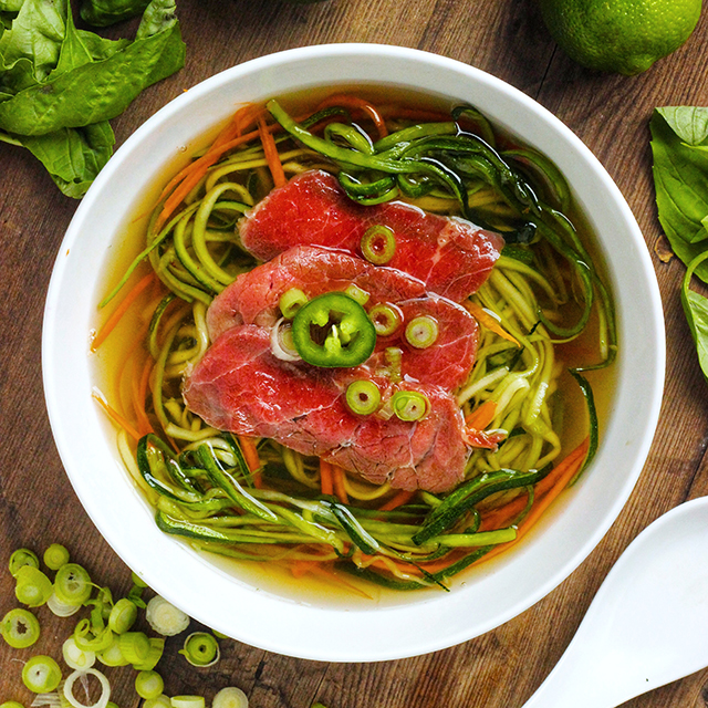 Beef Pho with Zoodles - Real Plans
